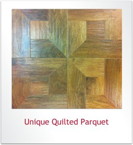 Unique quilted parquet laying pattern with Karndean Designflooring planks.