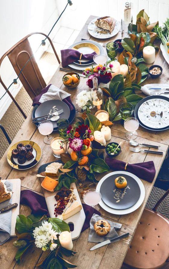 Dressed table